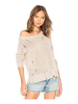 27 miles malibu Evalyn Distressed Crew Neck Sweater
