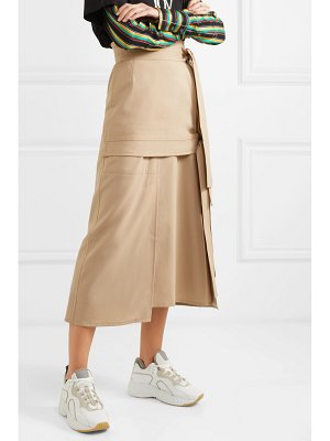 3.1 Phillip Lim belted wool-blend midi skirt
