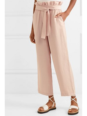 3.1 Phillip Lim cropped gauze wide-leg pants