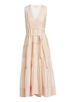 3.1 Phillip Lim lace & silk belted midi dress