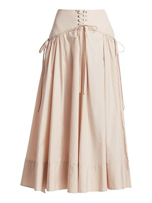 3.1 Phillip Lim long poplin corset skirt