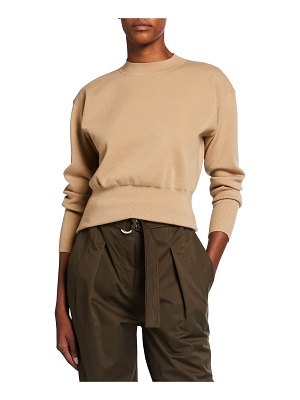 3.1 Phillip Lim Long-Sleeve Military Rib Mock-Neck Sweater