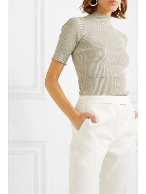 3.1 Phillip Lim metallic ribbed-knit turtleneck top