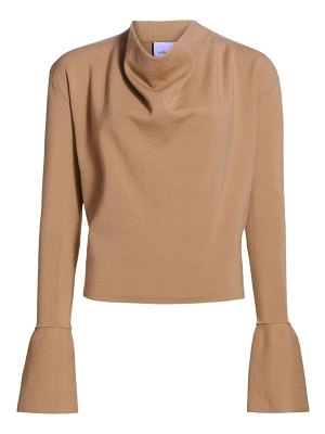 3.1 Phillip Lim military long-sleeve ribbed cowl-neck sweater