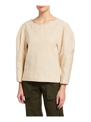 3.1 Phillip Lim Puff-Sleeve Structured Top