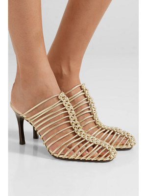 3.1 Phillip Lim sabrina woven metallic leather mules
