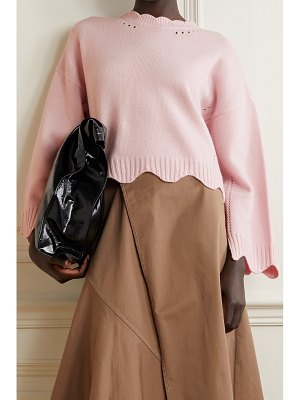 3.1 Phillip Lim scalloped pointelle-knit wool and cashmere-blend sweater