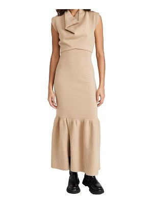3.1 Phillip Lim sleeveless military rib cowl neck dress