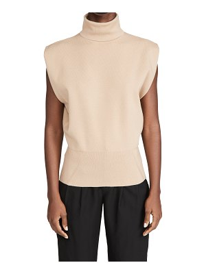 3.1 Phillip Lim sleeveless military rib mock neck pullover