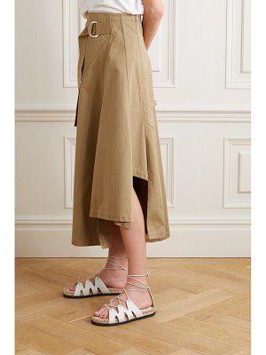 3.1 Phillip Lim space for giants belted asymmetric pleated organic cotton-twill skirt
