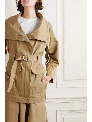3.1 Phillip Lim space for giants belted organic cotton-twill jacket