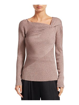 3.1 Phillip Lim twist-neck ribbed lurex sweater