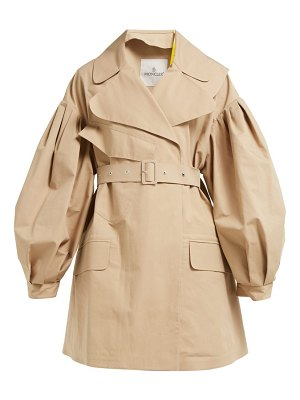4 Moncler Simone Rocha belted cotton twill trench coat