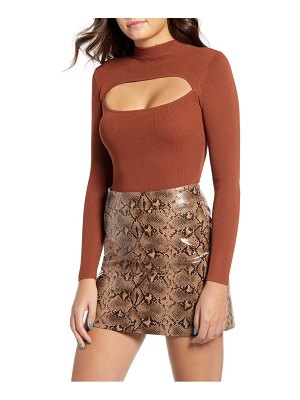 4SI3NNA cutout long sleeve bodysuit