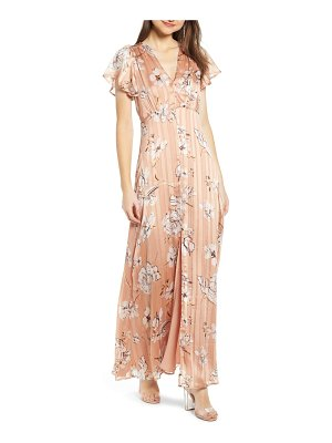 4SI3NNA floral satin maxi dress