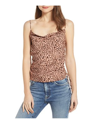4SI3NNA drawstring detail cowl neck camisole