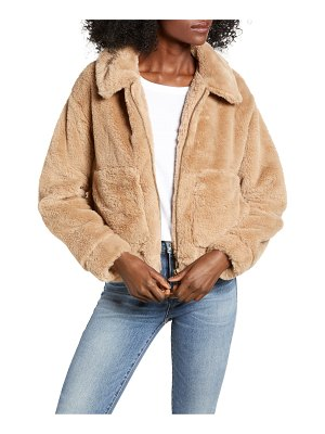 4SI3NNA teddy faux fur jacket