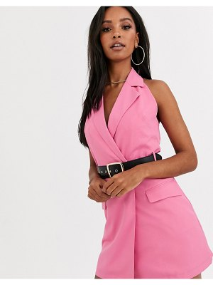 4th + Reckless blazer dress with belt in pink