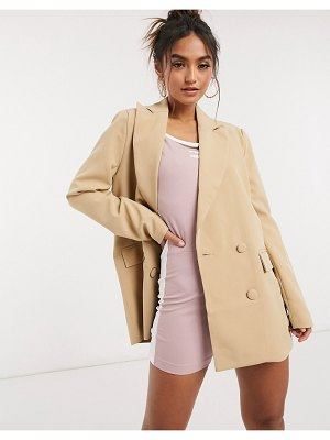 4th + Reckless oversized relaxed blazer in camel-tan