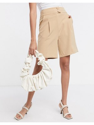 4th + Reckless tailored short in camel-tan