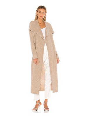 525 America cashmere belted wrap cardigan