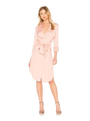 525 America Tie Waist Shirt Dress