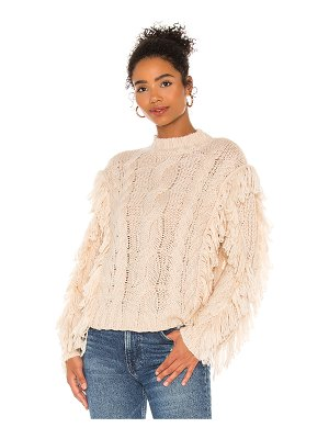 525 cable fringe pullover