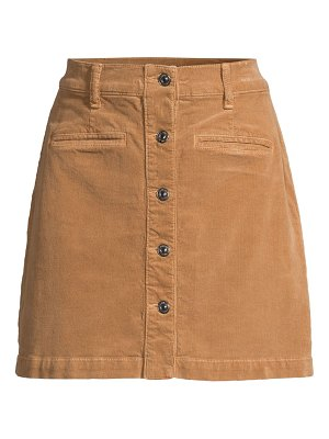 7 For All Mankind button-front corduroy mini skirt