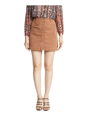 7 For All Mankind button front skirt