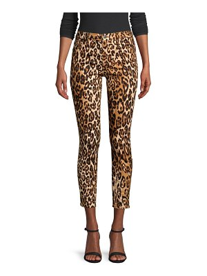 7 For All Mankind cheetah print skinny ankle jeans