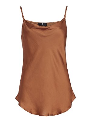 7 For All Mankind cowl satin tank top