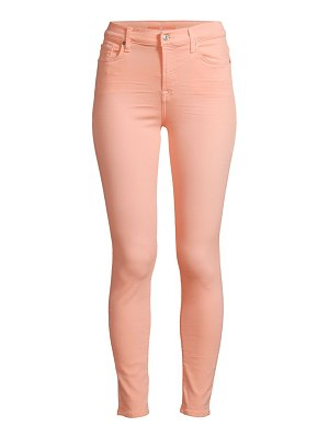 7 For All Mankind high-rise colored skinny ankle jeans
