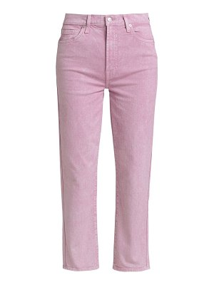 7 For All Mankind high-rise crop straight-leg jeans