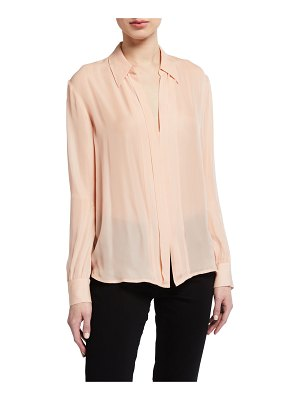 7 For All Mankind Minimal Placket Long-Sleeve Shirt