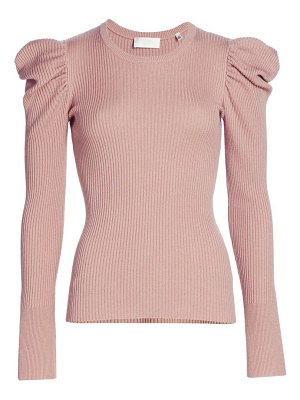 7 For All Mankind puff-shoulder crewneck sweater