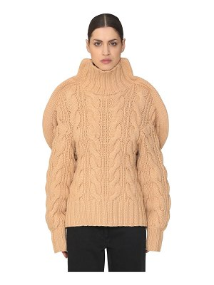 AALTO 3d handmade wool knit turtleneck sweater