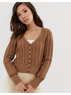 Abercrombie & Fitch knit v-neck cardigan-brown