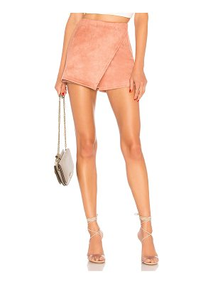 About Us Addy Faux Suede Skort