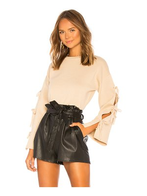 About Us Michelle Tie Sleeve Sweater