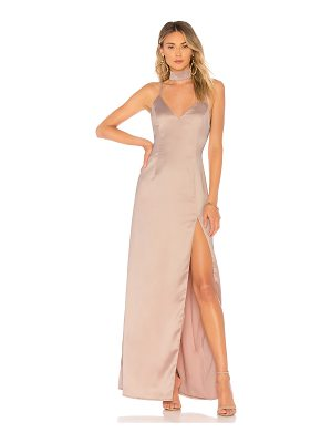 About Us Rylie Choker Maxi Dress