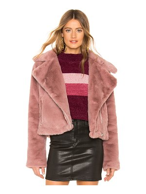 About Us Sophie Faux Fur Moto