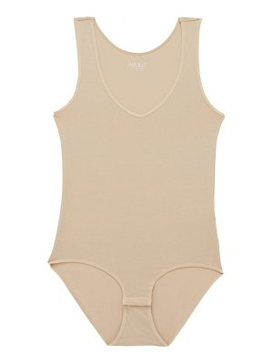 About v-neck modal-blend bodysuit