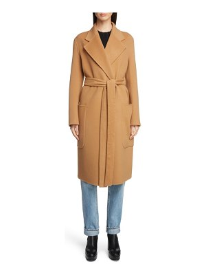 Acne Studios belted double wool & cashmere coat