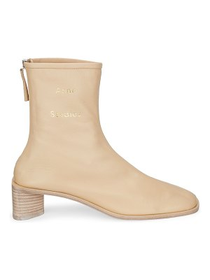 Acne Studios bertine square-toe leather ankle boots
