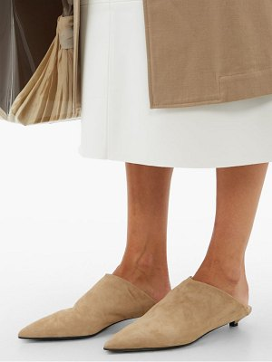 Acne Studios brion shearling-lined suede point-toe mules