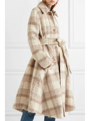 Acne Studios checked felt coat