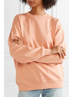 Acne Studios forba face appliquéd cotton-jersey sweatshirt