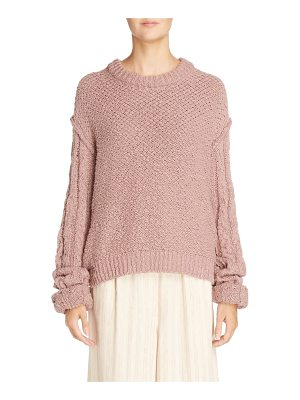 Acne Studios hila cable sleeve sweater