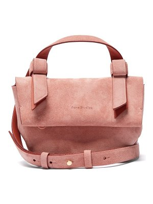 Acne Studios musubi millie suede cross body bag