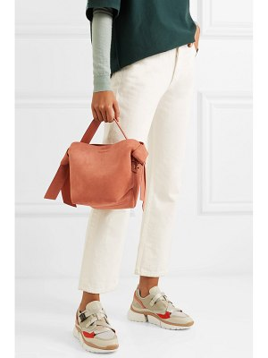 Acne Studios musubi mini knotted suede shoulder bag